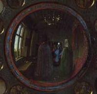 Arnolfini Mariage: mirror closeup